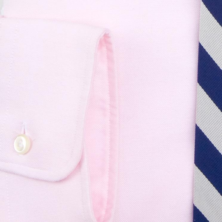PINK OXFORD W/ FLAP POCKET DRESS SHIRT