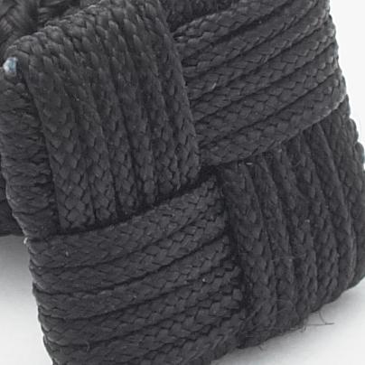 SILK KNOTS SQUARE - BLACK