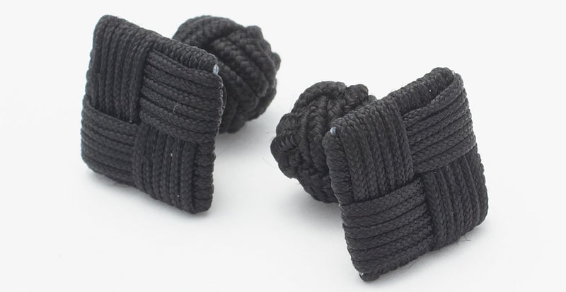 Silk Knots Square Black