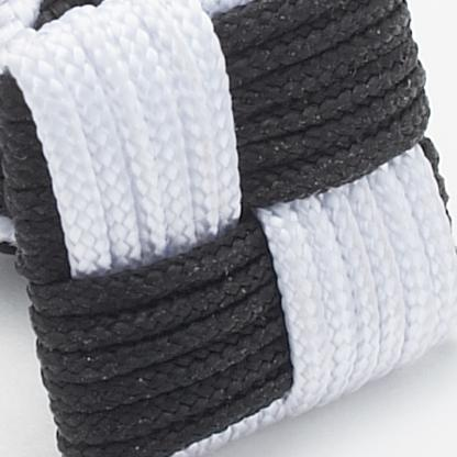 Silk Knots Square Black White
