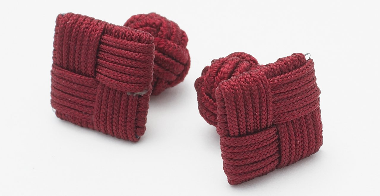 SILK KNOTS SQUARE - BURGUNDY