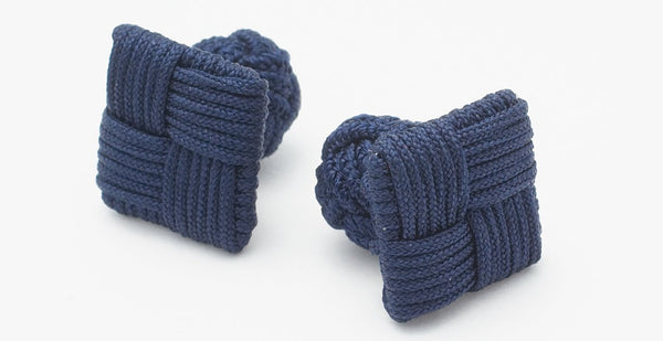 Silk Knots Square Navy