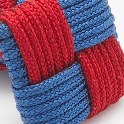 SILK KNOTS SQUARE - BLUE/BURGUNDY