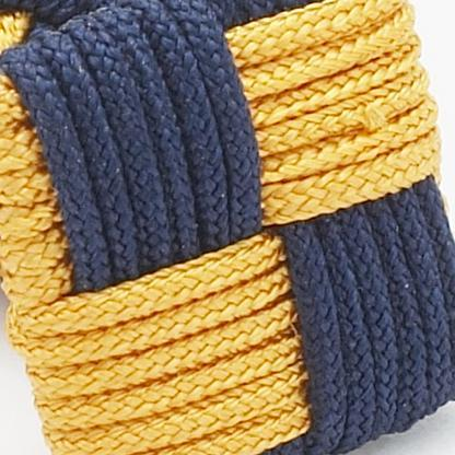 SILK KNOTS SQUARE - NAVY/GOLD