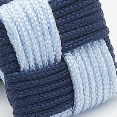 Silk Knots Square Navy Sky Blue