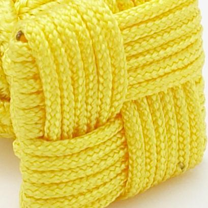Silk Knots Square Yellow