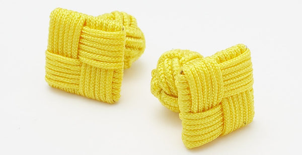 SILK KNOTS SQUARE - YELLOW