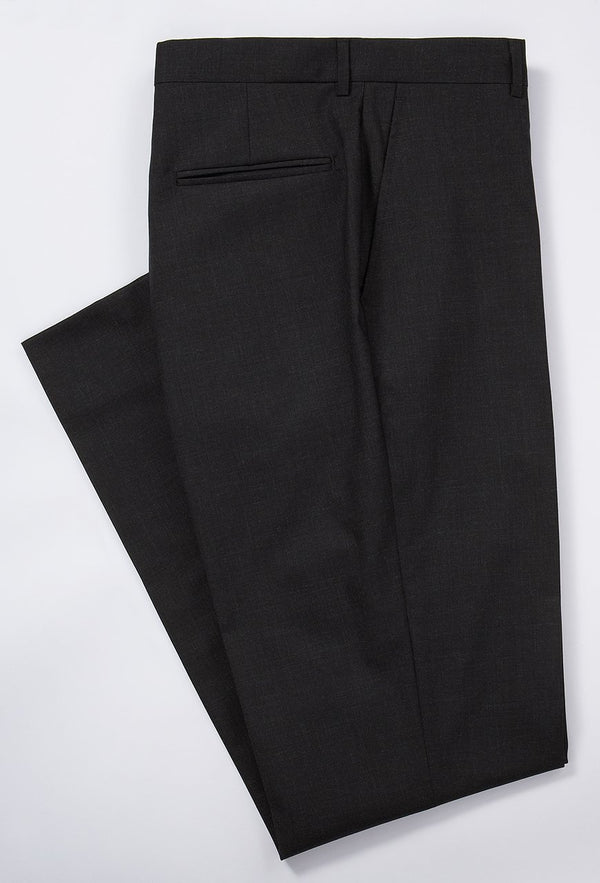 TROPICAL WOOL TROUSERS- CHARCOAL