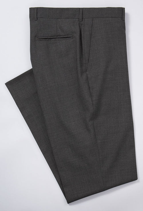 TROPICAL WOOL TROUSERS - MEDIUM GREY