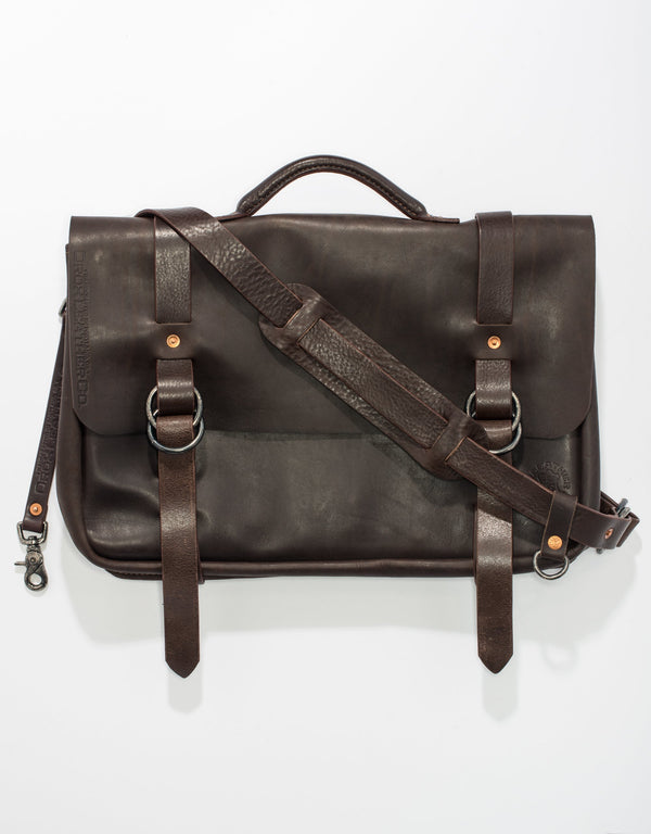 MESSENGER BAG -BROWN
