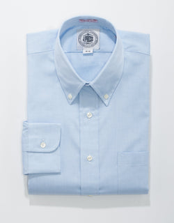 BLUE PINPOINT BUTTON DOWN SHIRT - TRIM FIT