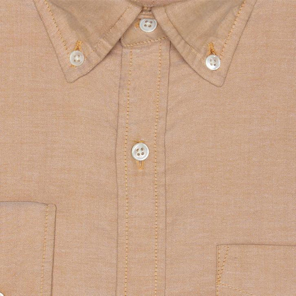 & SONS GARMENT CO.GARMENT PINPOINT OXFORD SHIRT - ORANGE
