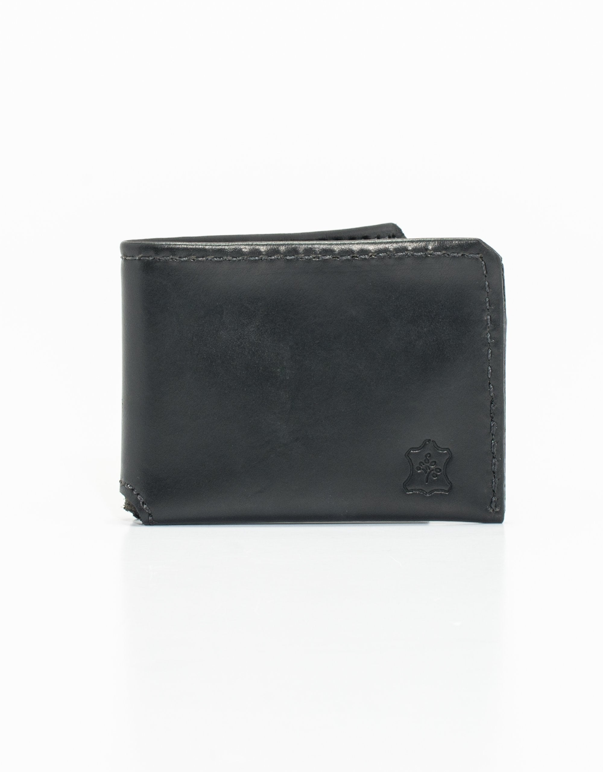 CLASSIC BI-FOLD LEATHER WALLET - BLACK
