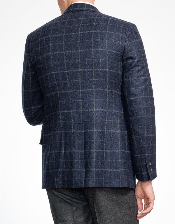 NAVY WITH GREY PANE SPORT COAT - TRIM FIT