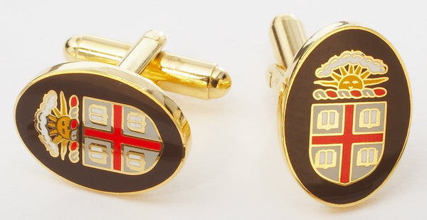 BROWN UNIVERSITY CUFFLINKS - GOLD