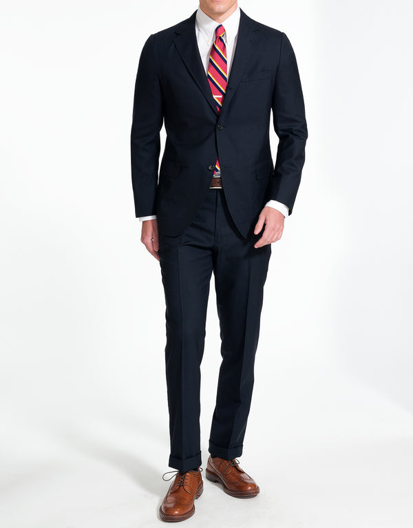 NAVY SOLID SUIT - TRIM FIT