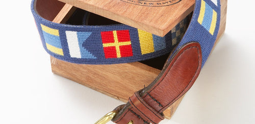 NEEDLEPOINT BELT - DARK AND STORMY
