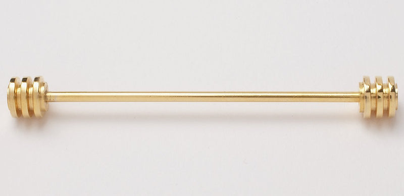 RIDGED COLLAR BAR - GOLD
