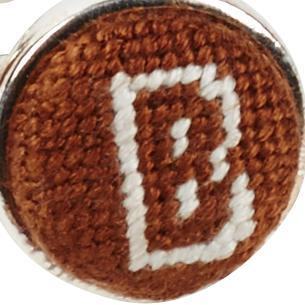 BROWN UNIVERSITY NEEDLEPOINT CUFFLINKS
