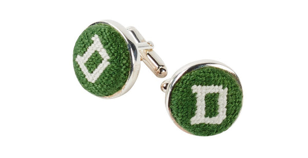 DARTMOUTH COLLEGE NEEDLEPOINT CUFFLINKS