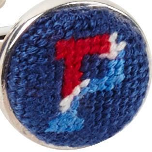 UNIVERSITY OF PENNSYLVANIA NEEDLEPOINT CUFFLINKS