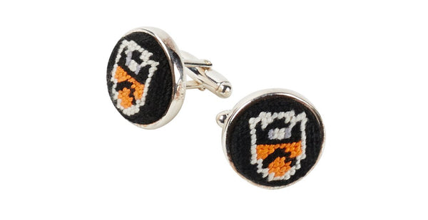 PRINCETON UNIVERSITY NEEDLEPOINT CUFFLINKS