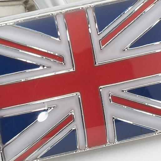 BRITISH FLAG CUFFLINKS - SILVER