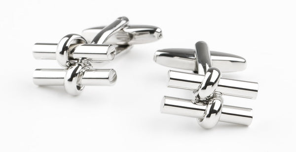 PARALLEL BAR CUFFLINKS - SILVER