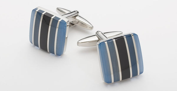 STONE STRIPED - BLUE/BLACK