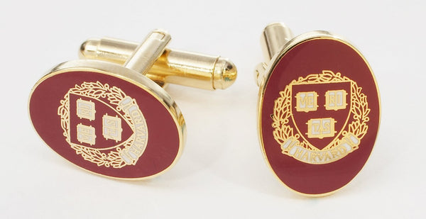 Harvard University Cufflinks Gold