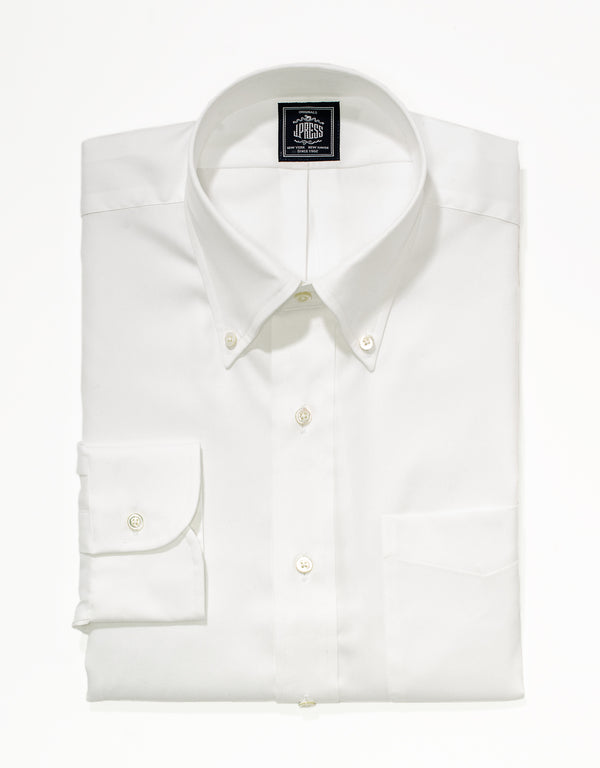 NON IRON WHITE PINPOINT DRESS SHIRT