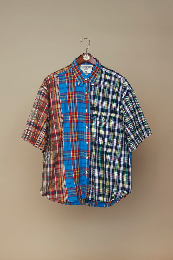 MADRAS FUN PATTERN SHIRT- NAVY