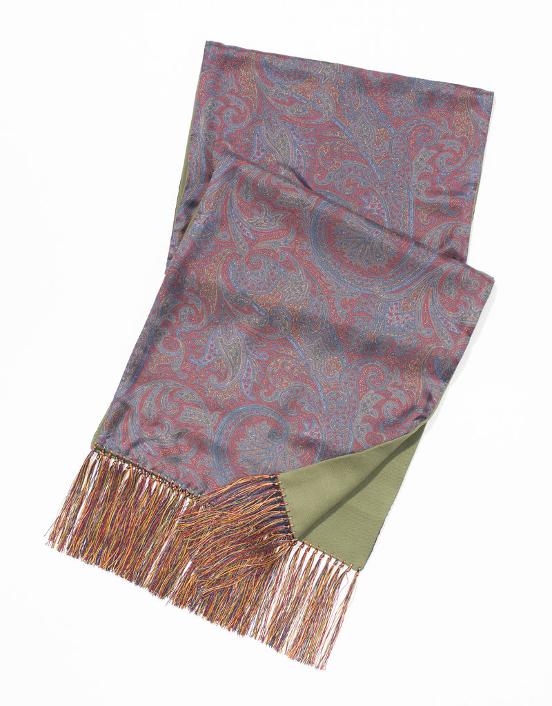 FOULARD BIG PAISLEY SCARF - RED