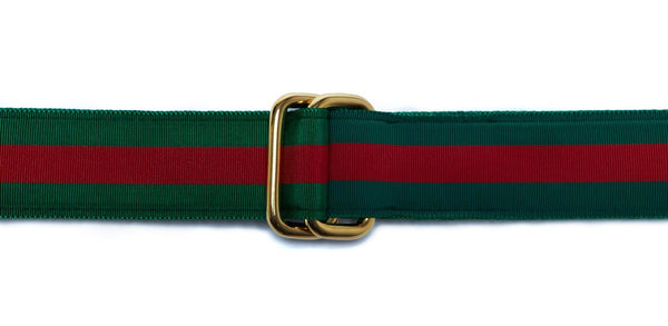 RIBBON BELT - GREEN/RED
