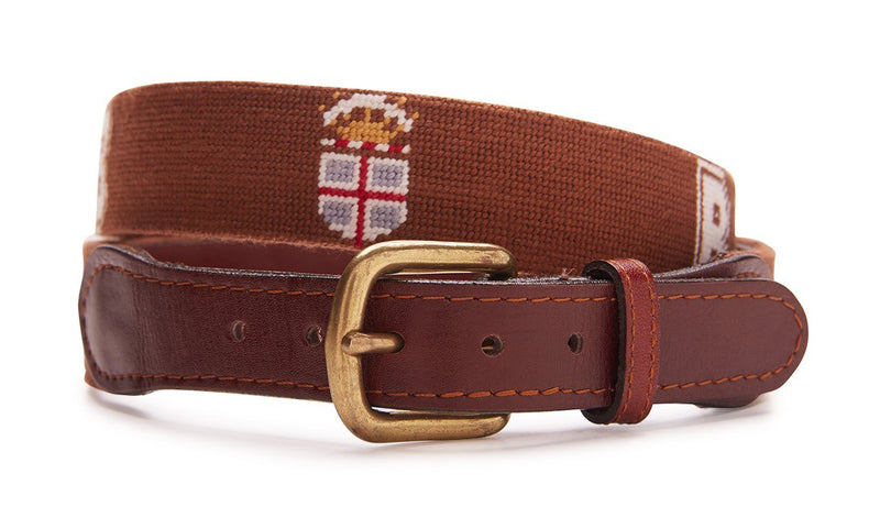 BROWN UNIVERSITY NEEDLEPOINT BELT
