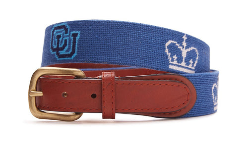 NEEDLEPOINT BELT - COLUMBIA UNIVERSITY