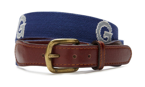 NEEDLEPOINT BELT - GEORGETOWN UNIVERSITY