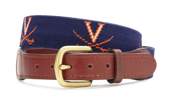 NEEDLEPOINT BELT - UNIVERSITY OF VIRGINIA