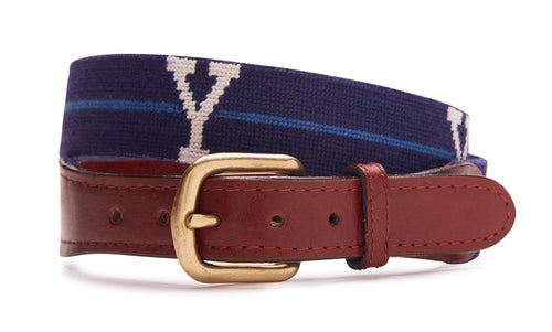 NEEDLEPOINT BELT -YALE UNIVERSITY