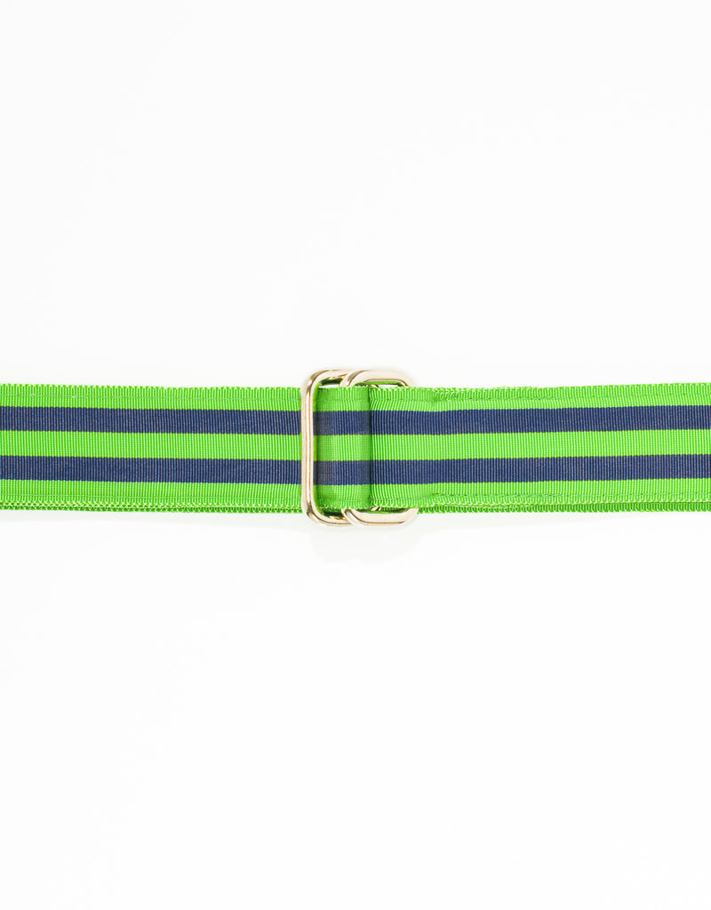RIBBON BELT - LIGHT GREEN/NAVY