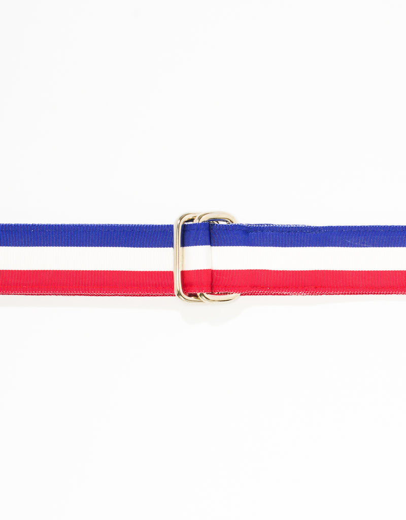 RIBBON BELT - NAVY/WHITE/RED