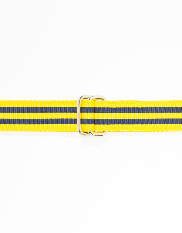 RIBBON BELT - YELLOW/NAVY