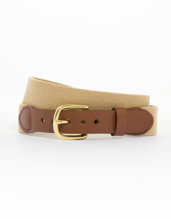 SURCINGLE BELT - KHAKI - J. PRESS