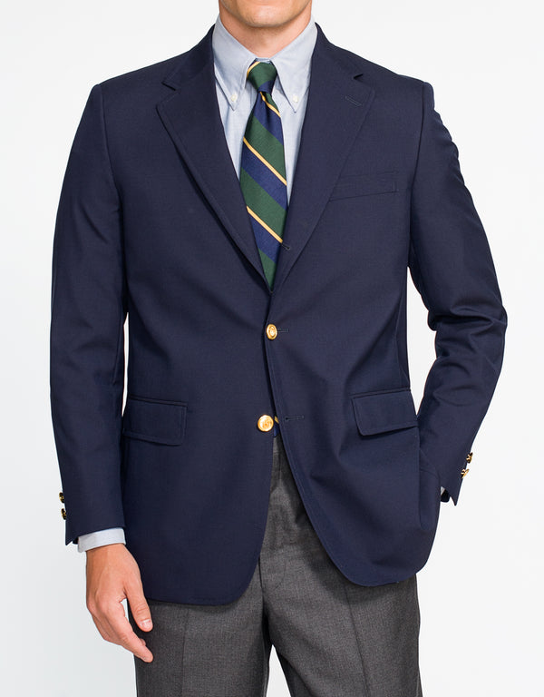 NAVY TROPICAL WOOL BLAZER