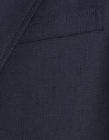 Navy Wool Button Blazer in Trim Fit