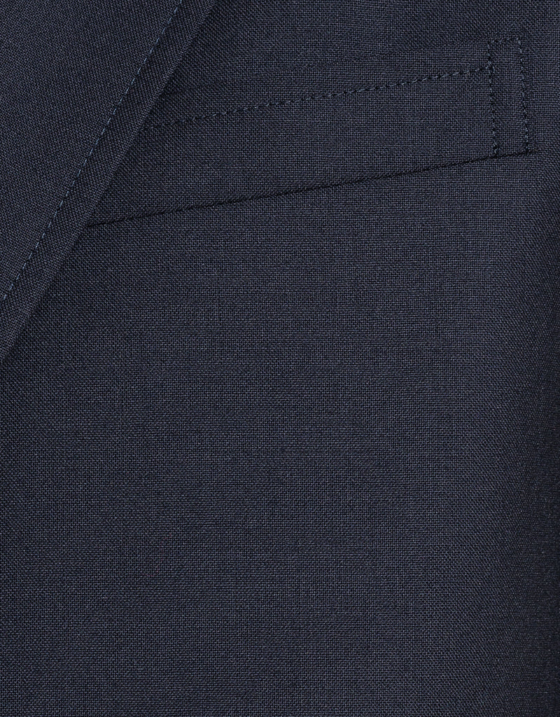 NAVY  WOOL 3-BUTTON BLAZER - TRIM FIT