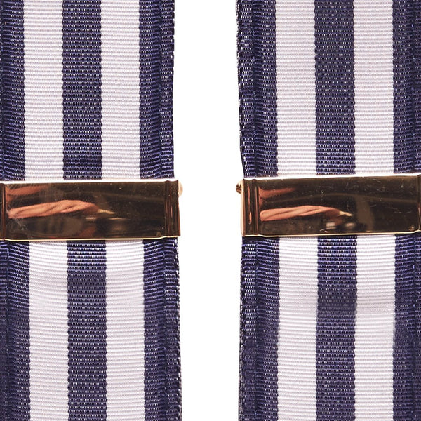 Gold Adjustment Navy & White Suspenders