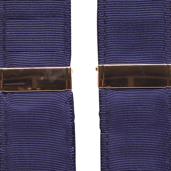 Gold Adjustment Navy Suspenders