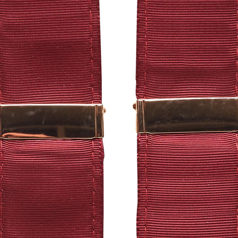 Gold Adjustment Burgundy Suspenders