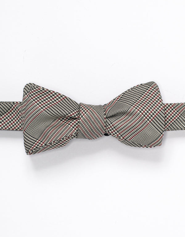 SILK GLEN CHECK BOWTIE - RED/BLACK